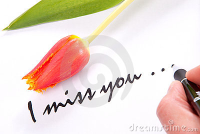 Loves Pictures on Hand Writing I Miss You To His Lovely Sweetheart On A Piece Of Papper