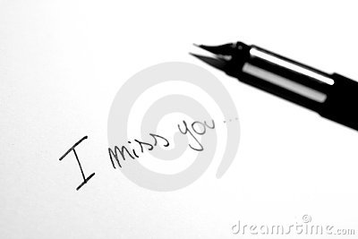 I Miss You Note Royalty Free Stock Images - Image: 5385849