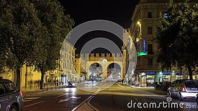 I portoni della Bra - The gates of the Bra Verona Timelapse 4K stock video