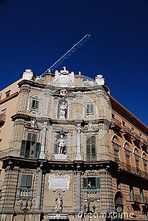 I Quattro Canti, baroque square in Palermo, Sicily