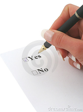 Free I SAID YES Stock Image - 699501