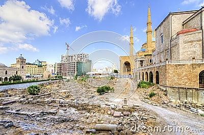 I stadens centrum Beirut, Libanon