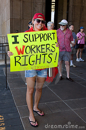 I Support Wisconsin Workesr s Rights! Editorial Photography