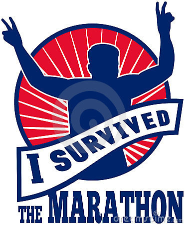 I survived the marathon runner