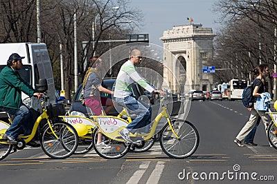 I Velo Bike Day Editorial Stock Image