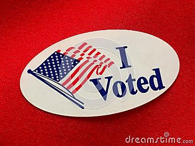 I voted Stock Photo