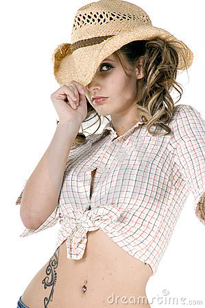 Free I Wanna Be A Cowgirl Baby Royalty Free Stock Image - 4408596