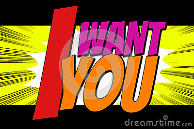 I want you text