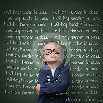 Free I Will Try Harder In Class Royalty Free Stock Photo - 36756065