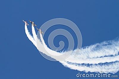 Iacarii Acrobati and Jurgis Kairys Air Show Editorial Photo