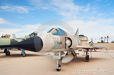 IAF Mirage IIICJ with 13 kill markings Editorial Stock Photo