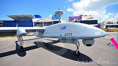 IAI unmanned aerial vehicle at Singapore Airshow Editorial Image