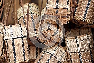 Iban cane basket