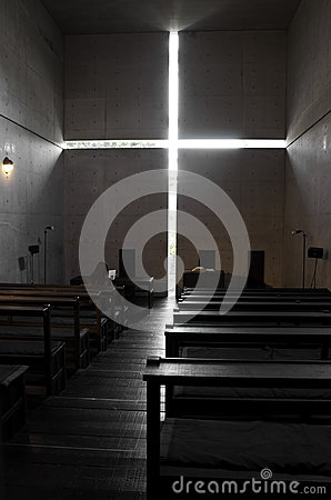 Ibaraki Kasugaoka Church s main chapel Editorial Photo