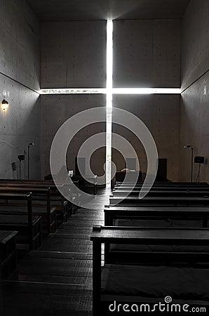 Ibaraki Kasugaoka Church s main chapel Editorial Photo