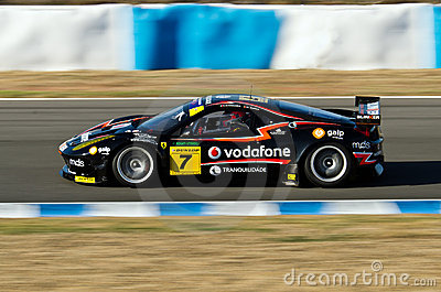 Iber GT Championship from Spain. Pilot M. Ramos. Editorial Stock Image