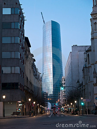 The Iberdrola Tower Editorial Stock Image