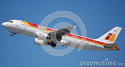 Iberia Airbus 320 Editorial Stock Photo