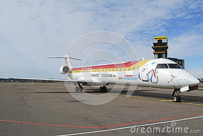 Iberia airplane CRJ 900 Editorial Photography