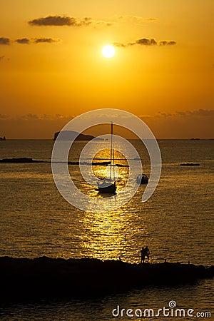 Free Ibiza Beautiful Sunset In Cala Conta, Ibiza,near San Antonio Royalty Free Stock Photography - 41338327