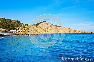 Ibiza Cala es Jondal Beach in san Jose at Balearic