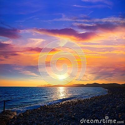 Free Ibiza Cap Des Falco Beach Sunset Es Vedra In San Jose Royalty Free Stock Photography - 34287767