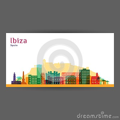 Free Ibiza City Architecture Silhouette. Royalty Free Stock Photo - 128424695