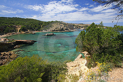 Ibiza coast line