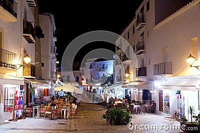Ibiza dalt vila nightlife under night lights