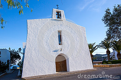 Ibiza Es Cubells church in san Jose at Balearic
