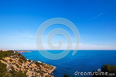 Ibiza Es Cubells Mediterranean view in san Jose