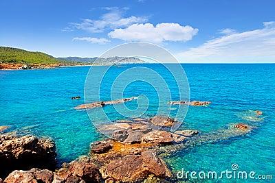 Ibiza island Canal d en Marti Pou des Lleo beach