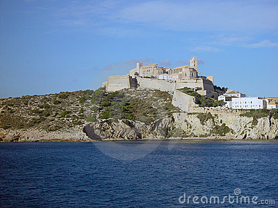 Ibiza Old Town seen from the sea