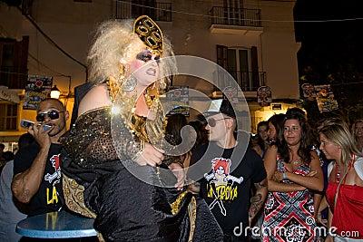 Ibiza Party Editorial Stock Photo