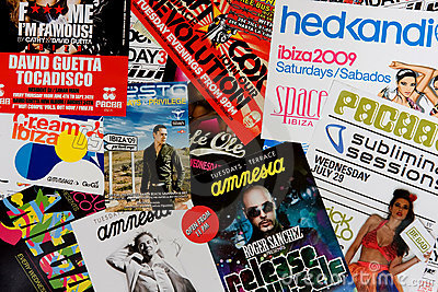Ibiza Party Editorial Stock Photo