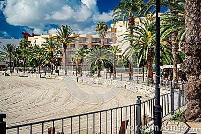 Ibiza seafront. Spain