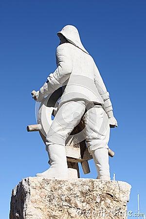 Ibiza town statue