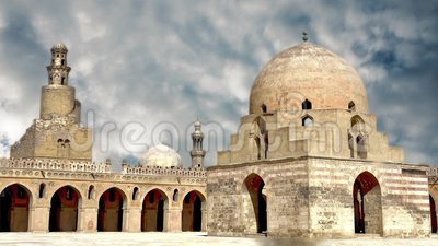 Ibn Tuluns Klinge ist in Kairo, die Hauptstadt von Ägypten stock video