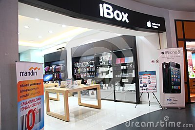 IBox Outlet in Cilandak Town Square Jakarta Editorial Photography