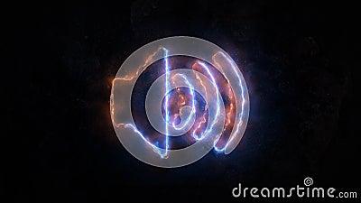 Icône de volume Icône saine de contrôle ou icône Onde sonore 26 illustration libre de droits
