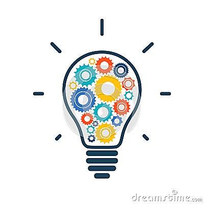 icne conceptuelle simple d ampoule avec color - Ampoule Colore