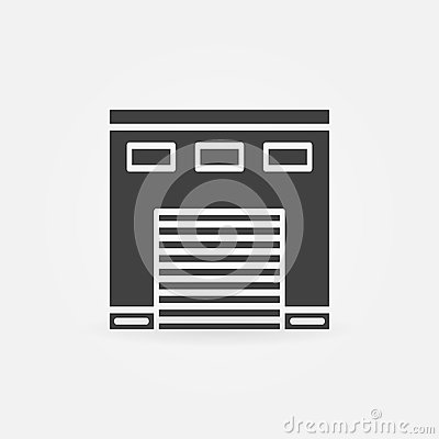 Ic ne de garage de voiture illustration de vecteur image for Garage credit voiture