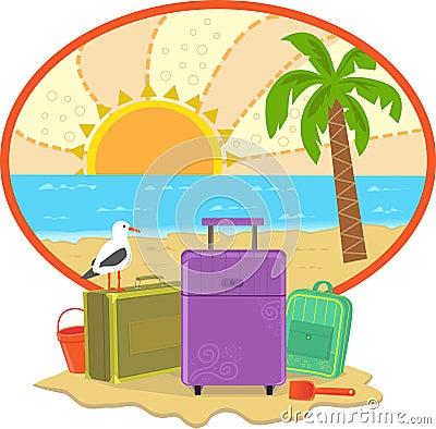 Icône de vacances