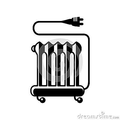 Ic ne de vecteur d 39 appareil de chauffage d 39 huile - Symbole radiateur electrique ...