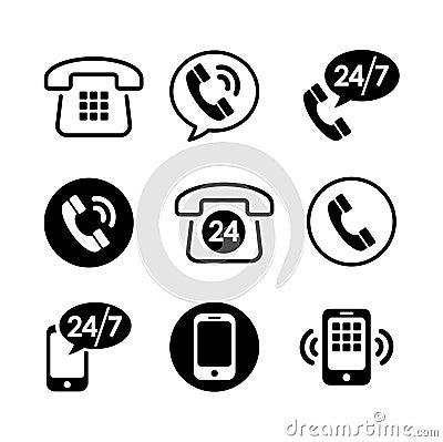 Icône 9 réglée - communication