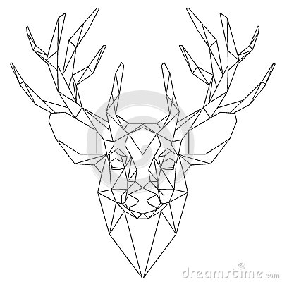 Origami Stag Deer