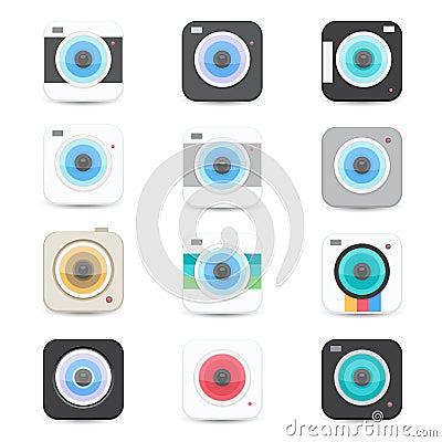 Icônes d appareil-photo