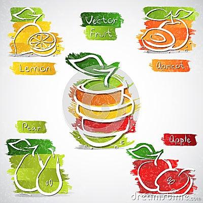 Icônes de fruit