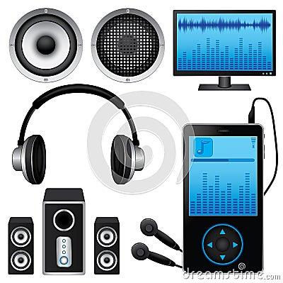 Icônes de musique réglées
