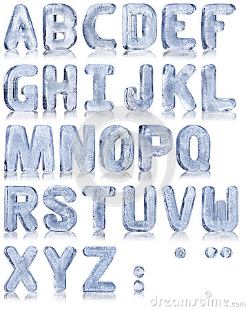 Free Ice Alphabet Stock Image - 35536031